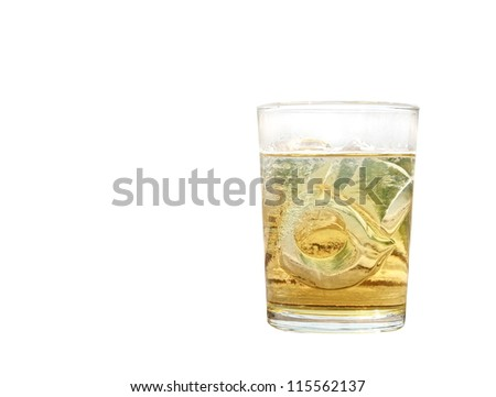 alcohol glass isolated, drink - stock photo