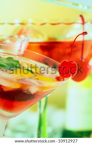 Alcoholic summer recreational drink - shallow DOF - stock photo