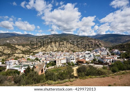 Alcolea, Small village in the Alpujarra, Almeria - stock photo