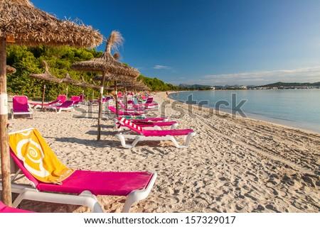 Alcudia Beach, Mallorca, Balearic Islands, Spain - stock photo