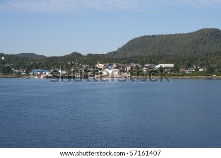 Alert Bay British Columbia Canada - stock photo