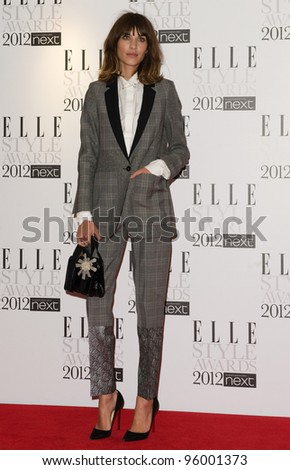Alexa Chung arriving for the Elle Style Awards 2012 at the Savoy Hotel, London. 13/02/2012 Picture by: Simon Burchell / Featureflash - stock photo