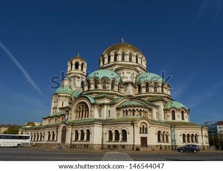 Alexander Nevski cathedral at Sofia, Bulgaria  - stock photo