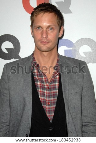 Alexander Skarsgard at Gentleman's Quarterly GQ Men of the Year Event, Chateau Marmont, Los Angeles, CA November 18, 2009  - stock photo