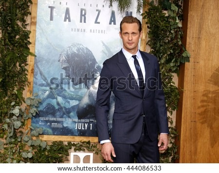 Alexander Skarsgard at the Los Angeles premiere of 'The Legend Of Tarzan' held at the Dolby Theatre in Hollywood, USA on June 27, 2016. - stock photo