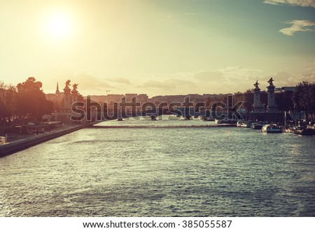 Alexandre 3 Bridge, Paris, France  - stock photo