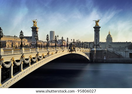 Alexandre 3 Bridge - Paris - France - stock photo