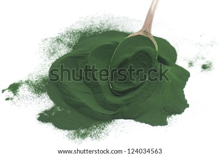 Algae Powder - stock photo