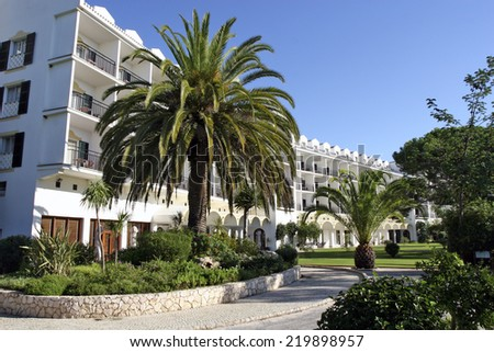 ALGARVE, PORTUGAL - NOVEMBER 08: Le Meridien Penina Golf & Resort is perfect place for golfers in Algarve, Portugal on November 8, 2006 - stock photo