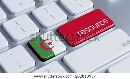 Algeria High Resolution Resource Concept - stock photo
