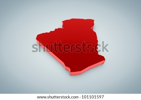 Algeria Map - stock photo