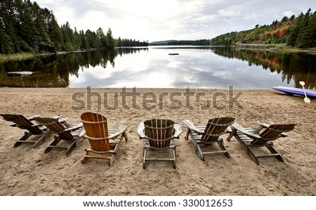 Algonquin Park Muskoka Ontario fall autumn colors - stock photo