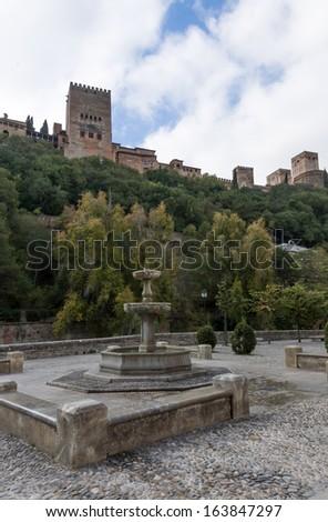Alhambra-Granada - Spain - stock photo