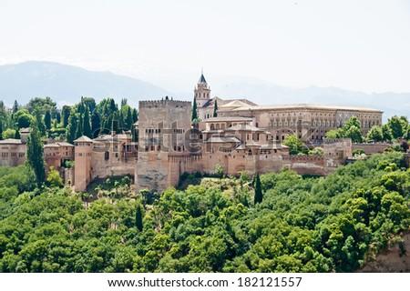 Alhambra in Granada, Andalucia, Spain - stock photo