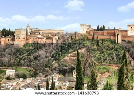 Alhambra in Granada, Spain - stock photo
