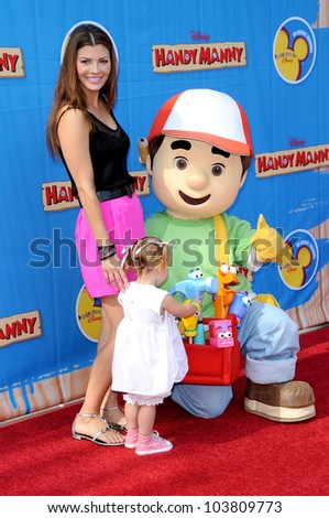 Ali Landry and daughter Estela  at the Los Angeles Premiere of 'Handy Manny Motorcycle Adventure'. Arclight Hollywood, Hollywood, CA. 09-26-09 - stock photo