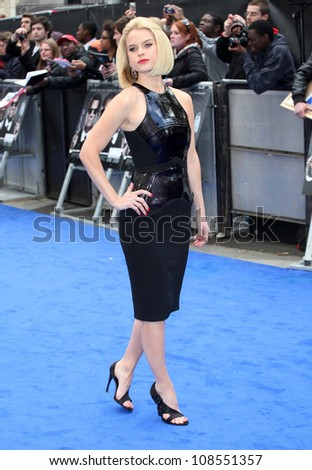 Alice Eve arriving at the Men In Black 3 Premiere, at Odeon Leicester Square, London. 16/05/2012 Picture by: Alexandra Glen / Featureflash - stock photo