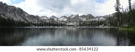 Alice Lake in the Sawtooth Wilderness in Idaho - stock photo