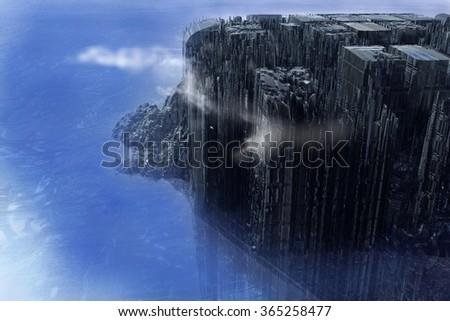 Alien City - stock photo