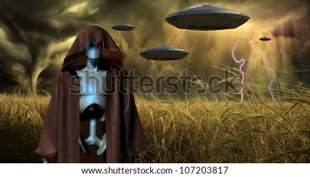 Alien Invasion - stock photo
