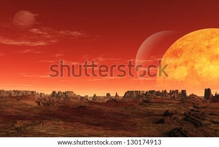 Alien Planet - stock photo