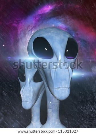aliens - stock photo