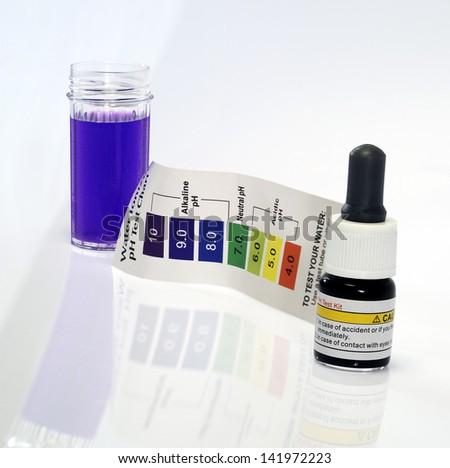 Alkaline water test ph reagent - stock photo