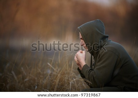 all in your hands - stock photo