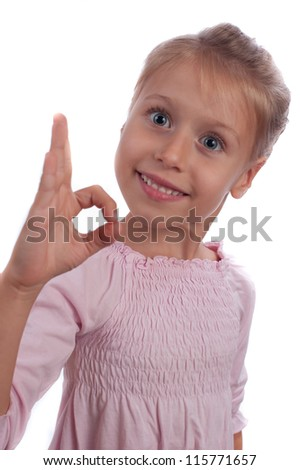 All is good, OK sign - stock photo