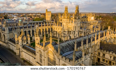 All Souls College at the university of Oxford. Oxford, England - stock photo