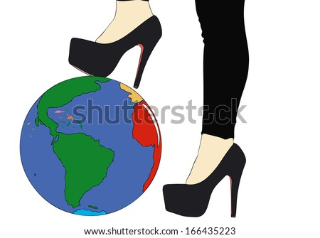 All the World at our feet 2 - stock photo