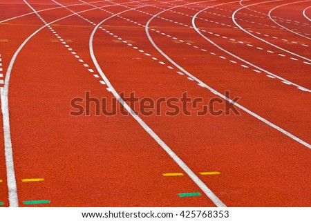 All-weather running track - stock photo