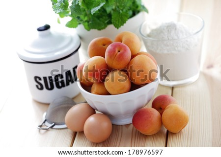 all you need to make a cake - food and drink - stock photo