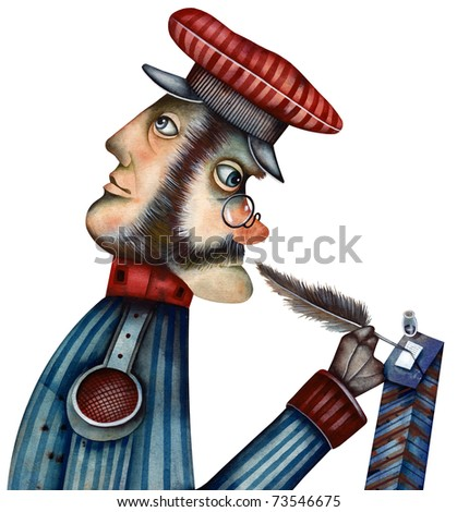 Allegory of the russian official - stock photo