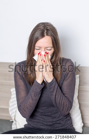 allergic reaction - stock photo