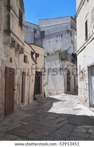 Alley in Altamura Oldtown. Apulia. - stock photo
