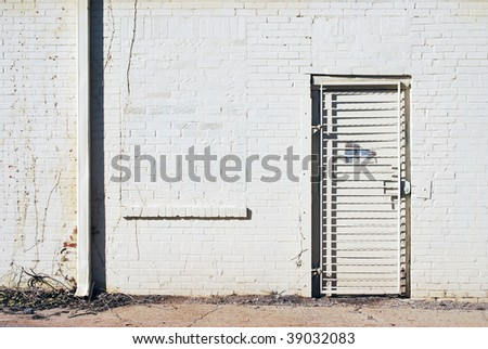 Alley Street Door - stock photo