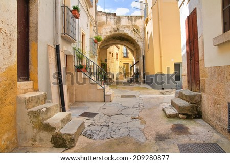 Alleyway. Altamura. Puglia. Italy. - stock photo