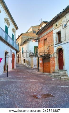 Alleyway. Bovino. Puglia. Italy. - stock photo