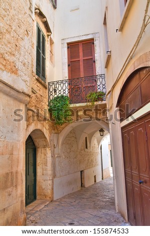 Alleyway. Conversano. Puglia. Italy.  - stock photo