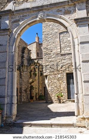 Alleyway. Guardia Perticara. Basilicata. Italy. - stock photo