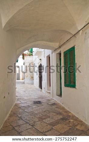 Alleyway. Locorotondo. Puglia. Italy.  - stock photo