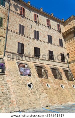 Alleyway. Macerata. Marche. Italy. - stock photo