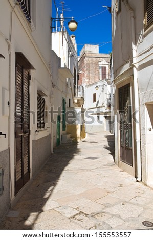 Alleyway. Noci. Puglia. Italy.  - stock photo