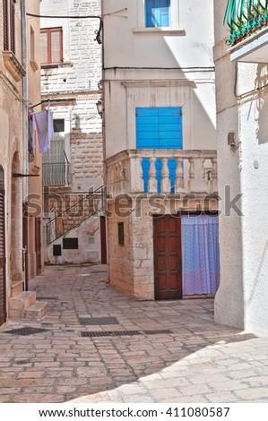 Alleyway. Polignano a mare. Puglia. Italy  - stock photo