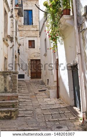 Alleyway. Putignano. Puglia. Italy.  - stock photo