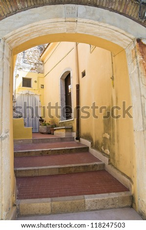 Alleyway. Sant'Agata di Puglia. Puglia. Italy. - stock photo