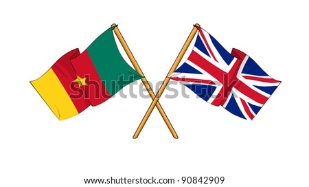 Alliance and friendship between Cameroon and United Kingdom - stock photo