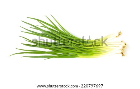 Allium fistulosum - stock photo