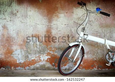 Alluminium folding bicycle - stock photo